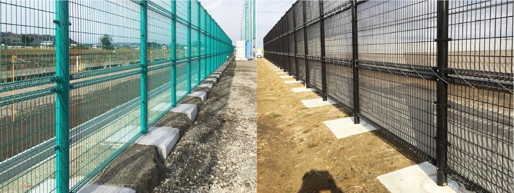 フェンス用基礎ブロック(コンクリートブロック)